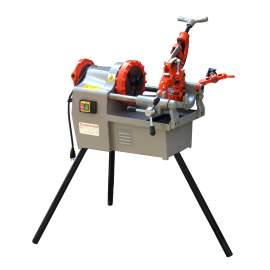 """Bolt and Pipe Threading Machine 1/2"""" to 2"""" NPT Threader Deburrer 1.2HP"""