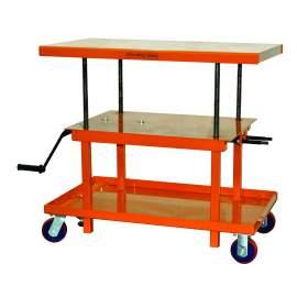 Bolton Tools Mechanical Hand-Crank Hydraulic Lift Table | 2200 lb | MT2442