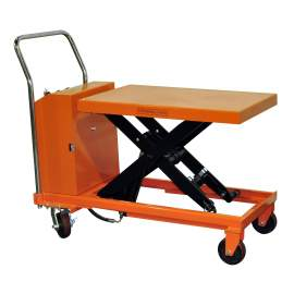 Bolton Tools Hydraulic Hand Electric Table Truck | 1100 lb | ETF50