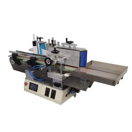 Mini Automatic Round Bottle  Separate Labeling Machine With Collector