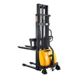 """Semi-Electric Lift Stacker with 2200lbs, 118"""" High. Adj.Forks"""