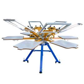6 Color 6 Station Double-rotary Manual Screen Printing Machine & Frame