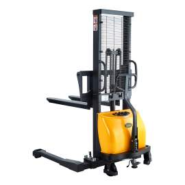 """Semi Electric Straddle Stacker 63"""" Lift 2200lbs with Adj Forks"""