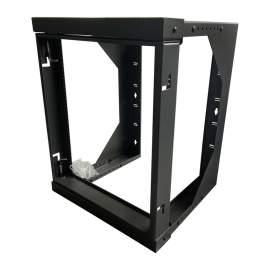 12U Swing Out  Network Rack Open Frame Wall Mount Rack