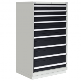 """Modular Drawer Cabinet 9 Drawers 40-1/4""""W × 22-1/2""""D × 60""""H"""