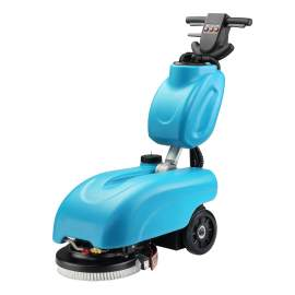 """Electric Auto Floor Scrubber 14"""" Cleaning Path 3 Gal Tank Cordless"""