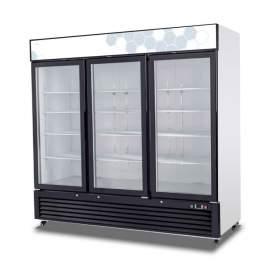Hinged Glass Door Merchandiser Refrigerator - 72 cu/ft (115v/60hz)