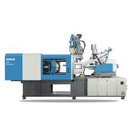CMS170 Servo Motor Hybrid Mixed Color Injection Molding Machine With Dryer Hopper and Auto Loader