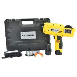 12.8V Automatic Handheld Cordless Rebar Tying Tool Kit With 2 Coil