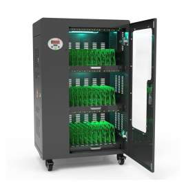 USB Charging Cart 30  Bay UV for Laptops Tablets IPADS UL listed