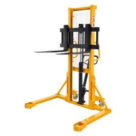 """Straddle legs Stacker 2200lbs Capacity 63"""" Lift Height Adjustable Fork width From 7.9"""" to 37.4"""""""