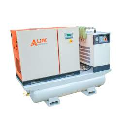 44.47CFM 116PSI Rotary Screw Air Compressor 460V 3-P 15HP w/tank&dryer