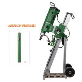 Concrete Core Drill Motor 3300W & Drill Rig With  2'' Dia Core Bit