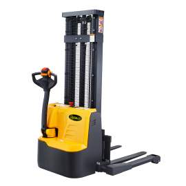 """118"""" High Fully Powered-Electric Straddle Stacker with 2200lbs Cap."""