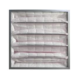"Synthetic Pocket Air Filter 5 Pockets 20"" x 20"" x 22"" MERV13 Qty 2"