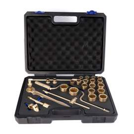 "Non-Sparking Socket Wrench Set 28-PC 1/2"" Beryllium Copper"