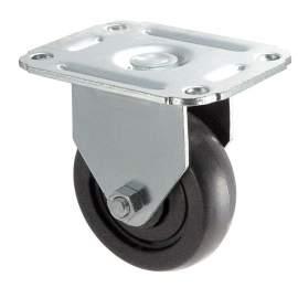 "4"" Light-Duty Rigid  Plate Caster 140 Lb Load Rating"