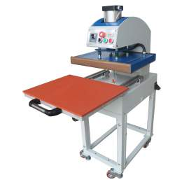 """Deluxe Pneumatic Heat Press Machine With 35"""" x 35"""" Pull Out Heavy Worktable"""