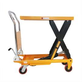 "Manual Single Scissor Lift Table 660 lbs 35.4"" Lifting Height"