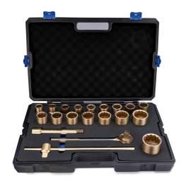 "Non-Sparking Socket Wrench Set 21-PC 3/4"" Aluminum Bronze"