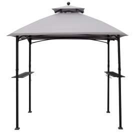 Fargo 8 x 5 Ft Grill Gazebo Shelter Outdoor Patio Barbecue(Dark Grey)