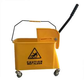 21 Qt. Yellow Mop Bucket  And  Side Press Wringer