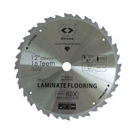 12'' PCD Saw Blade 16 Teeth 1'' Arbor Tipped TCG Laminate Flooring