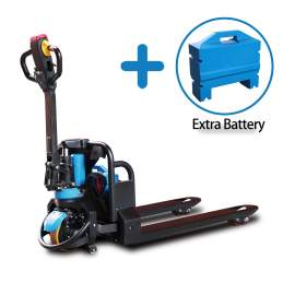 """Lithium Electric Pallet Truck 3300lbs Cap.45"""" x21"""" Plus Extra Battery"""