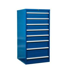 "Industrial Modular Drawer Cabinet 28 1/4"" x 28 1/2"" x 57"" 8 Drawers"