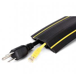 """20 Feet PVC Duct 2 Channels 240""""L x 4""""W x 1""""H 28.6 lbs Black"""