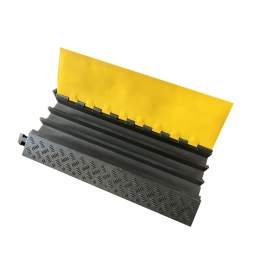 Rubber 3 Channels Cable Protector Heavy Duty 36'' L x 19'' W x 2'' H