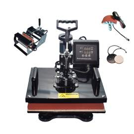 "5 in 1 Multi-function Heat Press Machine 15"" × 15"" T-Shirts Cap Mug p1"