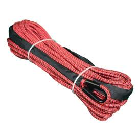 "Double Braid Synthetic Winch Rope 2/5"" x 82ft Red"