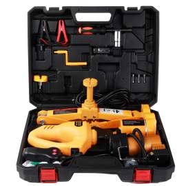 12V Electric Car Floor Jack Set with Wrench & Tire Inflator Pump