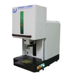 """Raycus 20W Small Enclosed Cover Fiber Laser Marking Machine 4.3 x 4.3"""""""