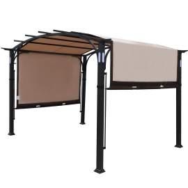 Warren 10 x 8 Ft Pergola Steel Frame Gazebo Canopy Cover Patio Shelter