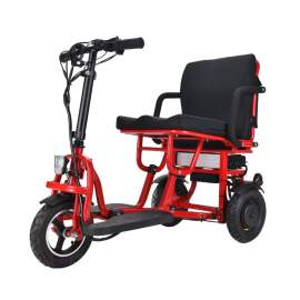 Folding Mobility Scooter Super Lightweight Scooter Electric Scooter Dual Motor Lithium Electric Trike For Disable Elder