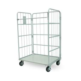 Foldable Nestable Roller Container 1200 lbs Capacity  Heavy Duty