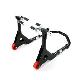 Black Motorcycle Front Stand 441lbs Capacity