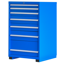 "Industrial Modular Drawer Cabinet  7 Drawers 28 1/4"" x 28 1/2"" x 48"""