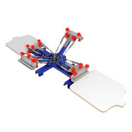 Micro Registration 4 Color 2 Station Screen Printing Machine