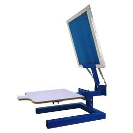 1 Color 1 Station Manual Silk Screen Printing Machine