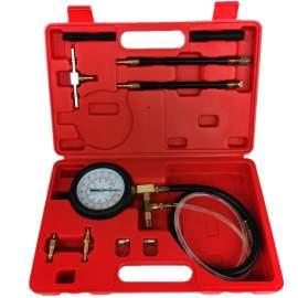 Fuel Injection Pressure Test Set Schrader Valve Fuel Port Gauge