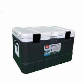 79Qt Grey Ice Chest Cooler White Inner Box White Lid