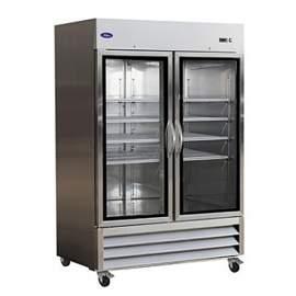 Valpro  49 cu. ft. Stainless Steel Double Glass Door Refrigerator