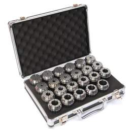 "ER40-23PCS(1/8""-1"") Precision Spring Collet Aluminum alloy box"