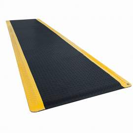 """ESD Anti-Fatigue Mat 3 ft x 12 ft Diamond Plate 3/4"""" Thick"""