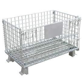 Folding Wire Container 40 x 32 x 34-1/2 4000 Lb Capacity  No Casters