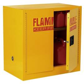 FM Approve, 22 Gallon Flammable Storage Cabinet, Manual Close