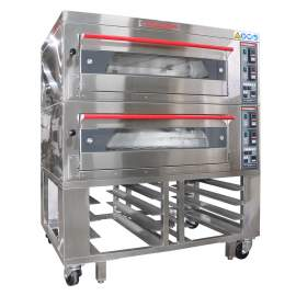CPBM Double Deck Oven 4 Pan Electric 220v/3ph 12 Kw Made In Taiwan